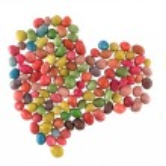 Sweet candies heart — Stock Photo