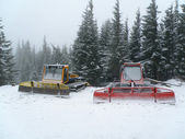 Snowgroomer, Snowcat — Stock Photo