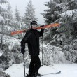 Skier guy — Stock Photo