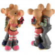 Figurine of couple enamoured mouse - Stock Photo
