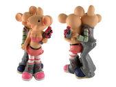 Figurine of couple enamoured mouse — Stock Photo