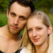 Attractive couple portraits — Stock Photo