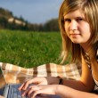 Laptop girl — Stock Photo #1274264