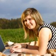 Laptop girl — Stock Photo #1274291