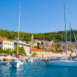 Stock Photo: HVAR TOWN HARBOR, CROATIA