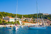 HVAR TOWN HARBOR, CROATIA — Stock Photo