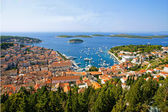 Nice view of port on Hvar island — Stock Photo