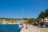 Hvar harbour, croatia — Stock Photo