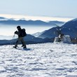 Stock Photo: Winter trekking in the alps