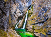 Waterfall Savica, Slovenia — Stock Photo