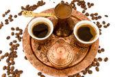 Antique Coffee Set — Stock Photo