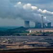 Power plant and coal open-pit — Stock Photo