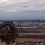 Giant wheel of bucket wheel excavator — Stock Photo