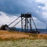 Giant bucket wheel excavator — Stock Photo