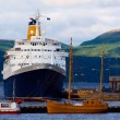 Cruise ship in the port of Alta, Norway - Stock Photo