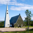 Church in northern Norway - Stock Photo