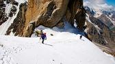Climbing in the Caucasian Mountains — Zdjęcie stockowe