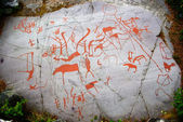 Ancient Rock Carving in Alta, Norway — 图库照片