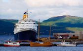 Cruise ship in the port of Alta, Norway — 图库照片