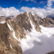 Foto de Stock  : Caucasimountains and climbers