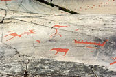 Ancient Rock Carving in Alta, Norway — Stock Photo