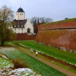 Fortress and church in Juelich, Germany — Stock Photo #1106518