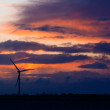 Stock Photo: Wind turbine and dramatic sky