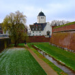 Fortress and church in Juelich, Germany — Stock Photo #1158200