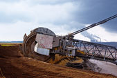 Giant wheel of bucket wheel excavator — 图库照片
