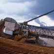 Постер, плакат: Giant wheel of bucket wheel excavator
