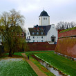 Fortress and church in Juelich, Germany — Stock Photo