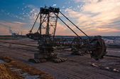Giant bucket wheel excavator — 图库照片