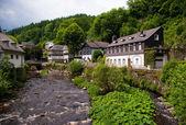 Eski Avrupa şehir. Monschau, Almanya — Stok fotoğraf
