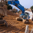 Excavator at demolition site — Stock Photo #2235728