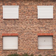 Stock Photo: Wall of house in abandoned town