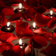 Floating candles — Stockfoto