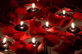 Floating candles — Foto de Stock