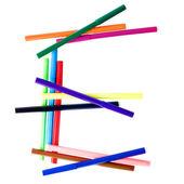 Latin letter E from the set of felt-tip — Stock Photo