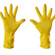 Yellow rubber gloves — Stock Photo #1068168