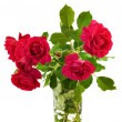 Royalty-Free Stock Photo: Bouquet of red roses in a glass