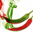 Royalty-Free Stock Photo: Hot chili pepper with smoke