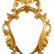Gold vintage metal frame - Stock Photo