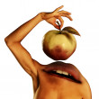 Apple devour — Stock Photo