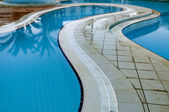 Blue water pool — Stock Photo