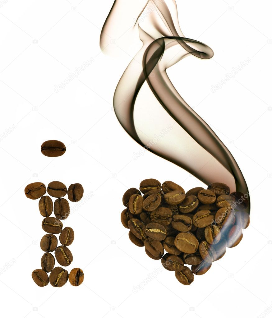 I love coffee from beans with smoke — Stock Photo #1094788