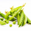 Pods of fresh green peas — Stock Photo