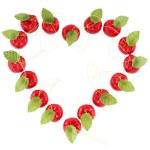 Heart shape frame from apple — Stock Photo