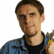 Man with wrench — Stock Photo