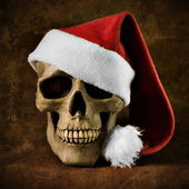 Christmas skull — Stock Photo
