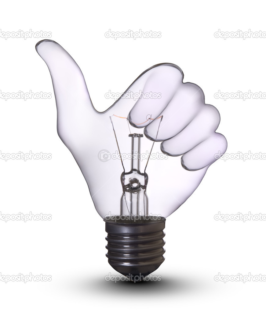 Woo-hand lamp bulb — Stock Photo #1151768